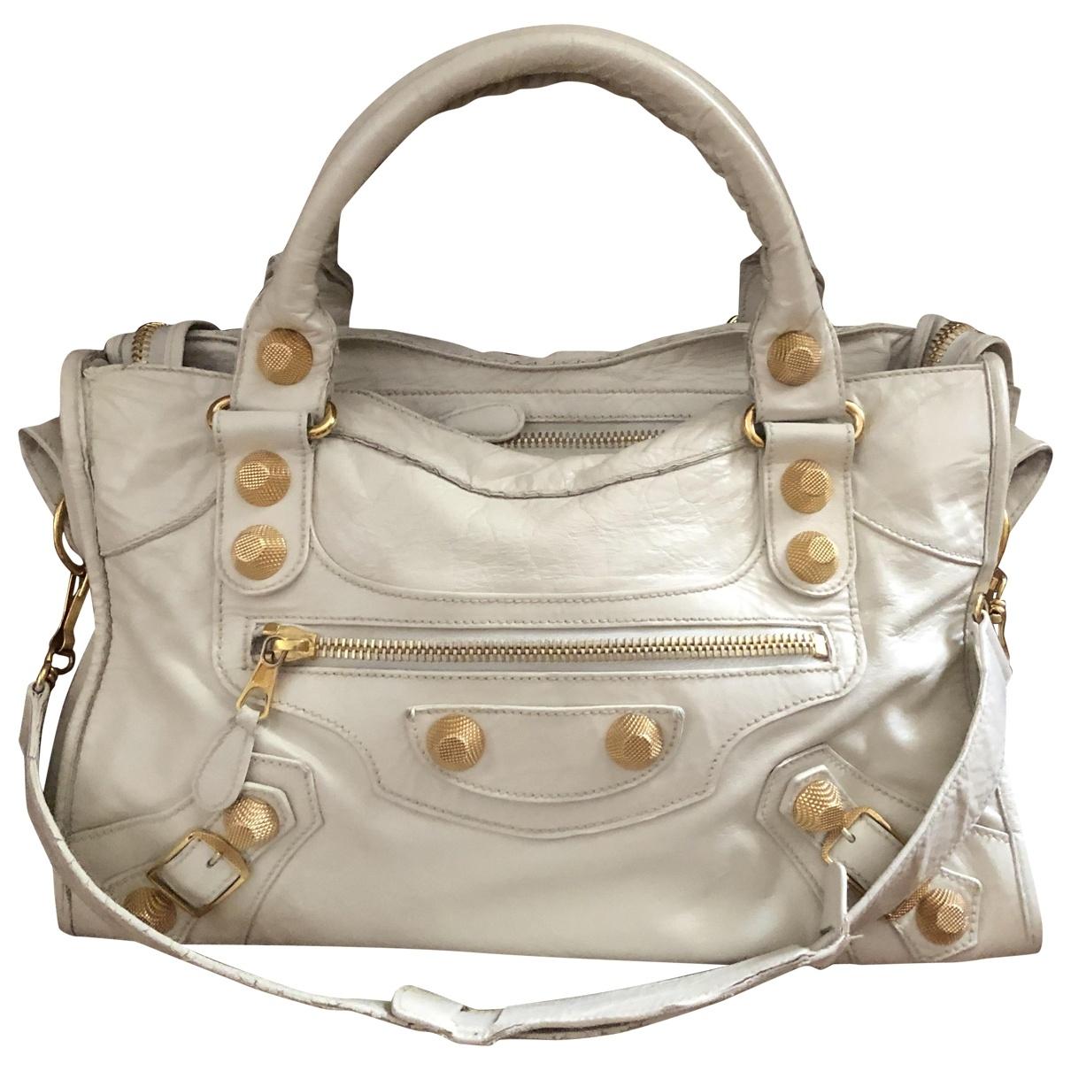 Balenciaga City White Leather handbag for Women \N