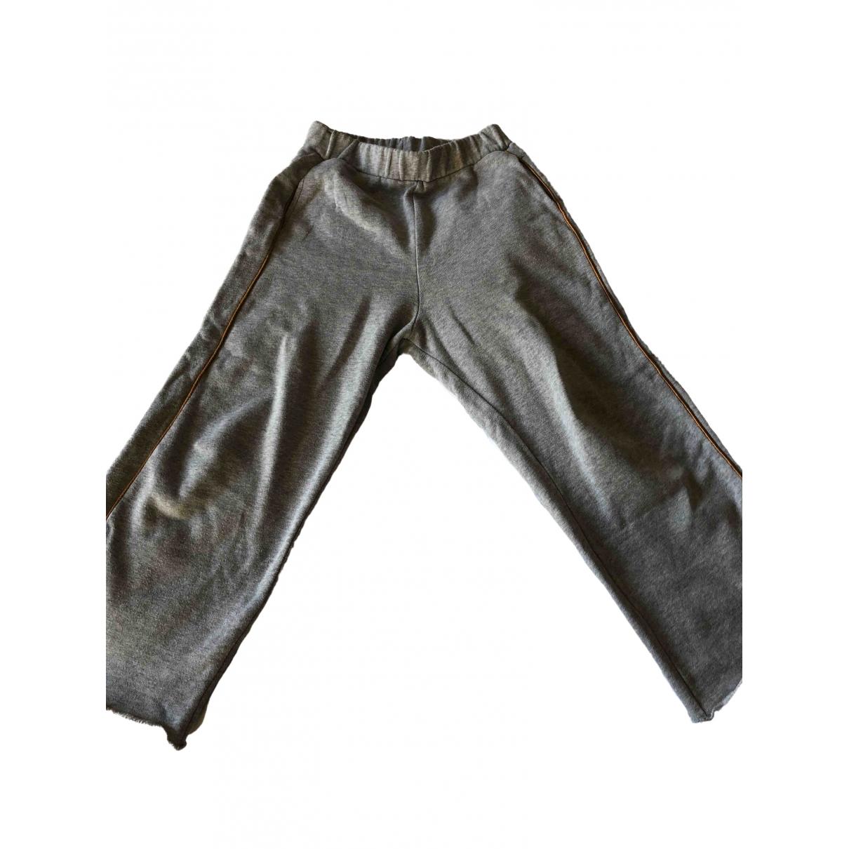 Bellerose - Pantalon   pour enfant en coton - gris