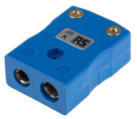 RS PRO JIS Thermocouple Connector for use with Type K Thermocouple Type K, Standard, Blue