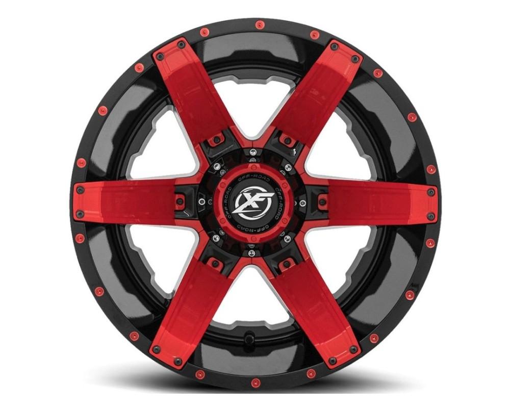 XF Off-Road XF-214 Wheel 20x9 8x165.1|8x180 0mm Gloss Black w/ Red Insert