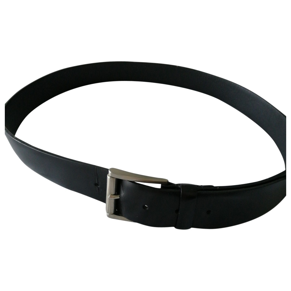 Prada \N Black Leather belt for Men 100 cm