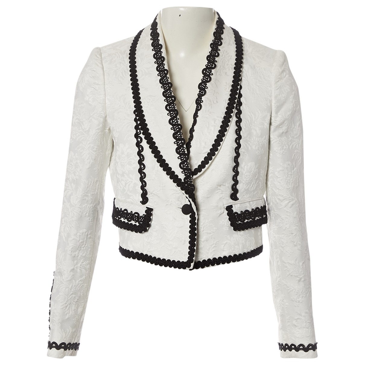 Dolce & Gabbana \N White Cotton jacket for Women 42 IT