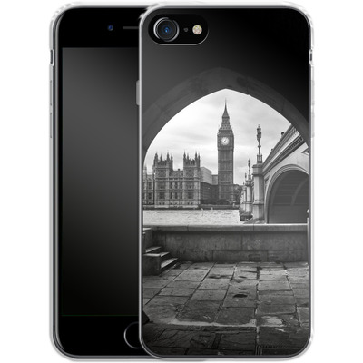 Apple iPhone 8 Silikon Handyhuelle - Houses Of Parliament von Ronya Galka
