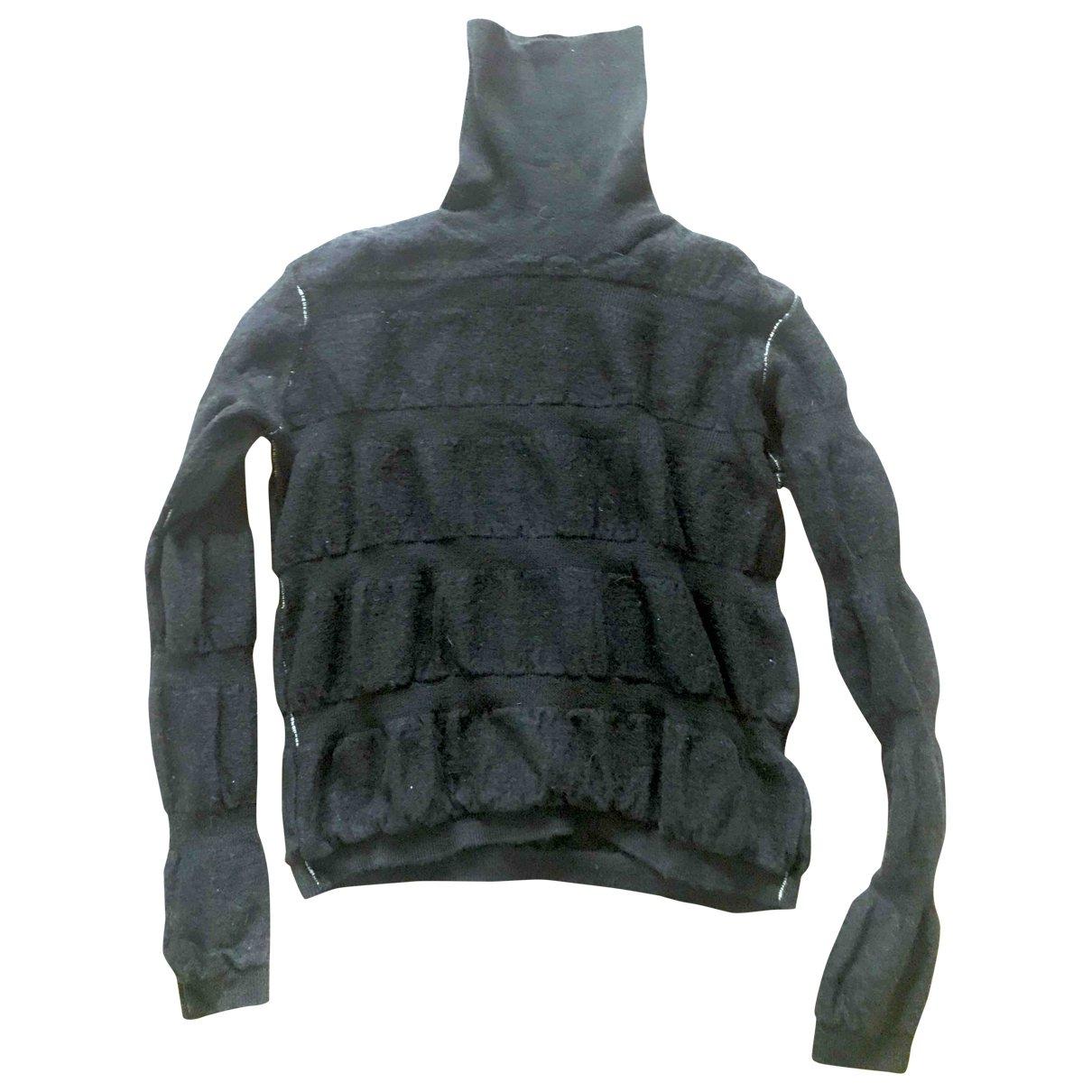 Mm6 \N Black Wool Knitwear for Women 32 FR