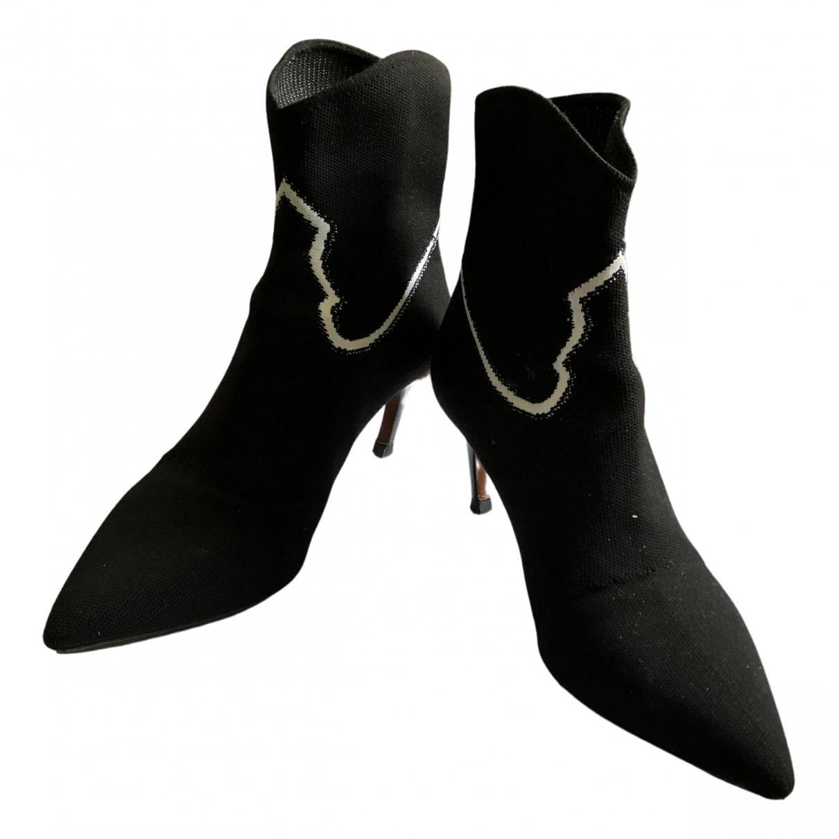 Dior - Boots   pour femme en toile - noir