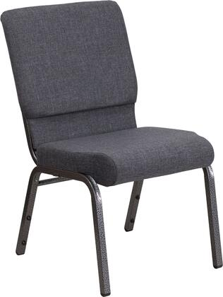 Hercules Collection FD-CH02185-SV-DKGY-GG Multipurpose Church Chair with Contemporary Style  Floor Protector Glides  Silver Vein Steel Frame and