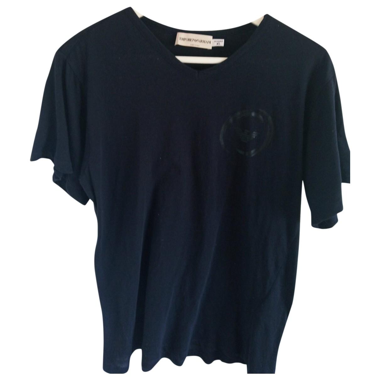 Emporio Armani \N T-Shirts in  Blau Baumwolle