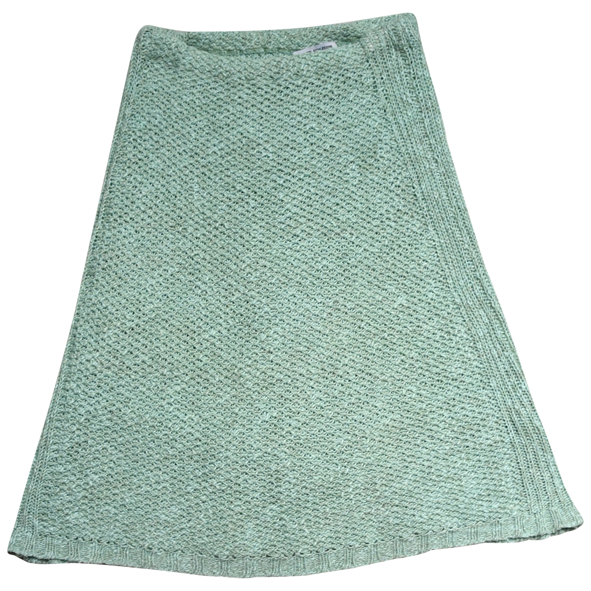Angel Schlesser \N Green Linen skirt for Women XS International
