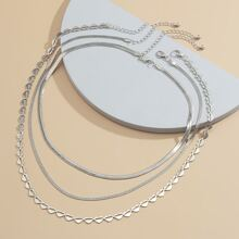 3pcs Heart Decor Necklace