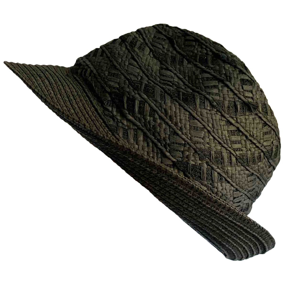 Non Signé / Unsigned \N Black Wicker hat & pull on hat for Men M International
