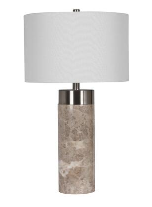 JTL08KT-GR 1-Light Table Lamp with Marble Materials and 100 Watts in Grey