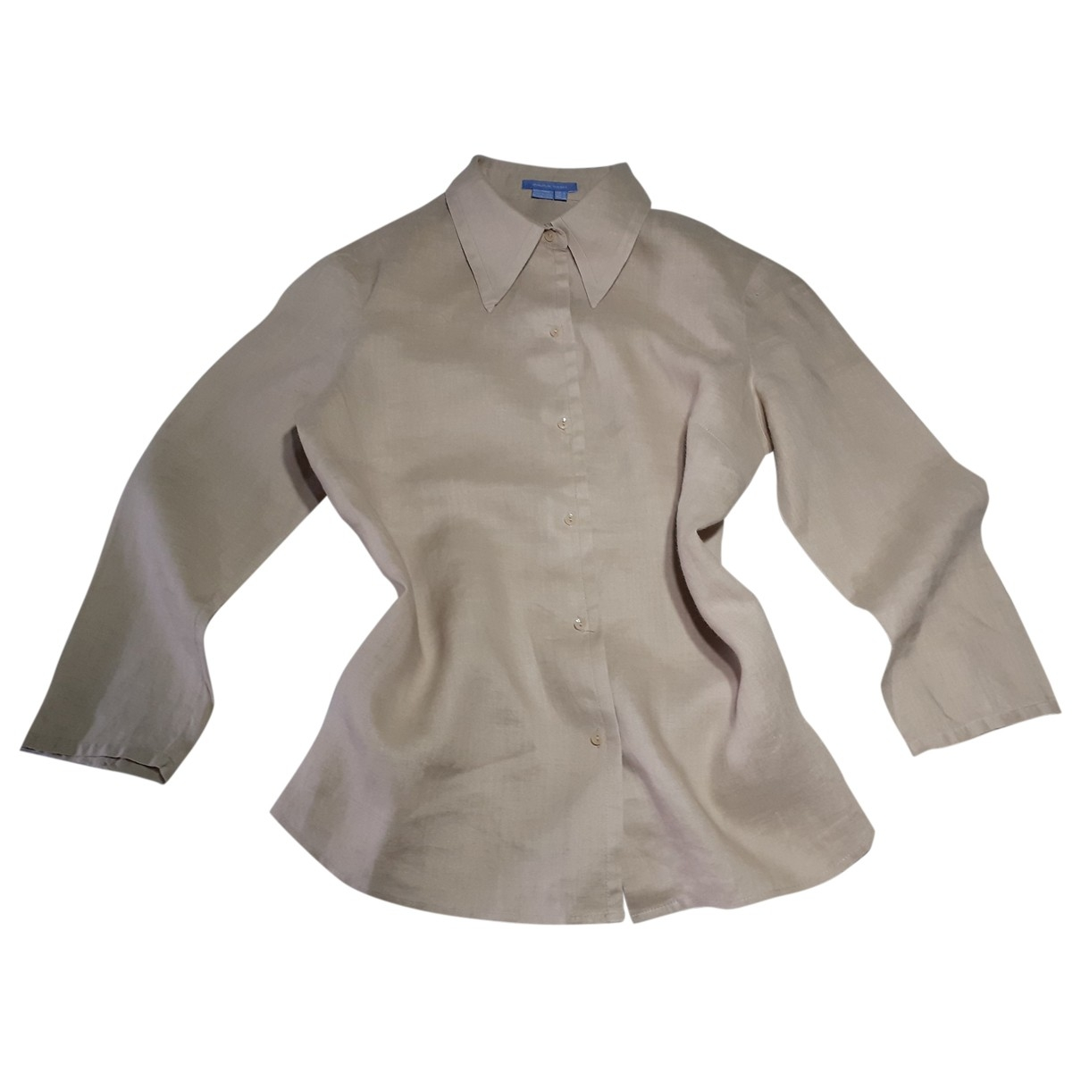 Zara - Top   pour femme en lin - beige