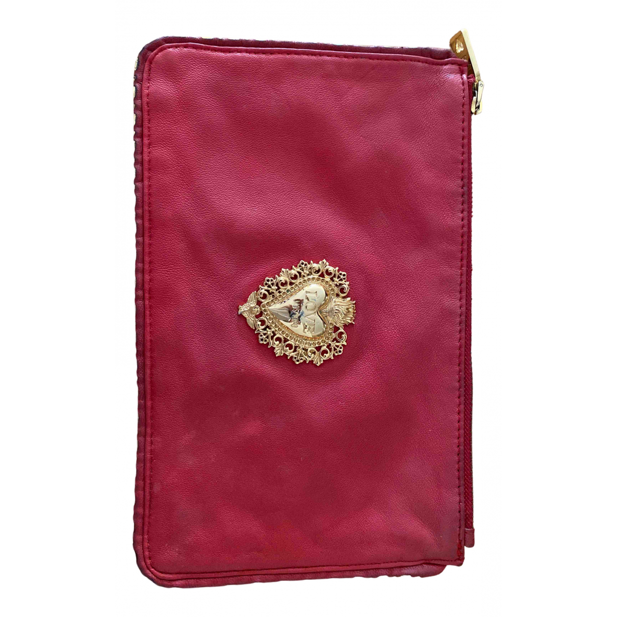 Moschino Love \N Red Leather Clutch bag for Women \N