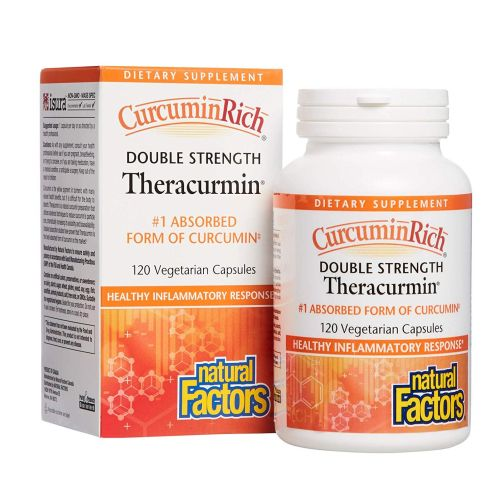 CurcuminRich Double Strength Theracurmin 120 Veg Caps by Natural Factors