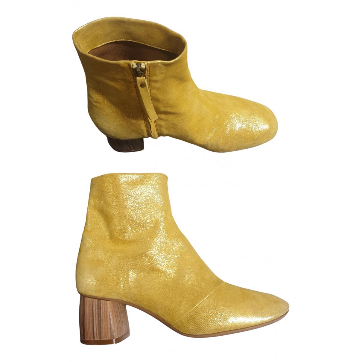 Forte_forte \N Stiefeletten in  Gold Leder