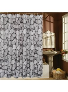 High Quality Modern Fashion Cobblestone Pattern Shower Curtain