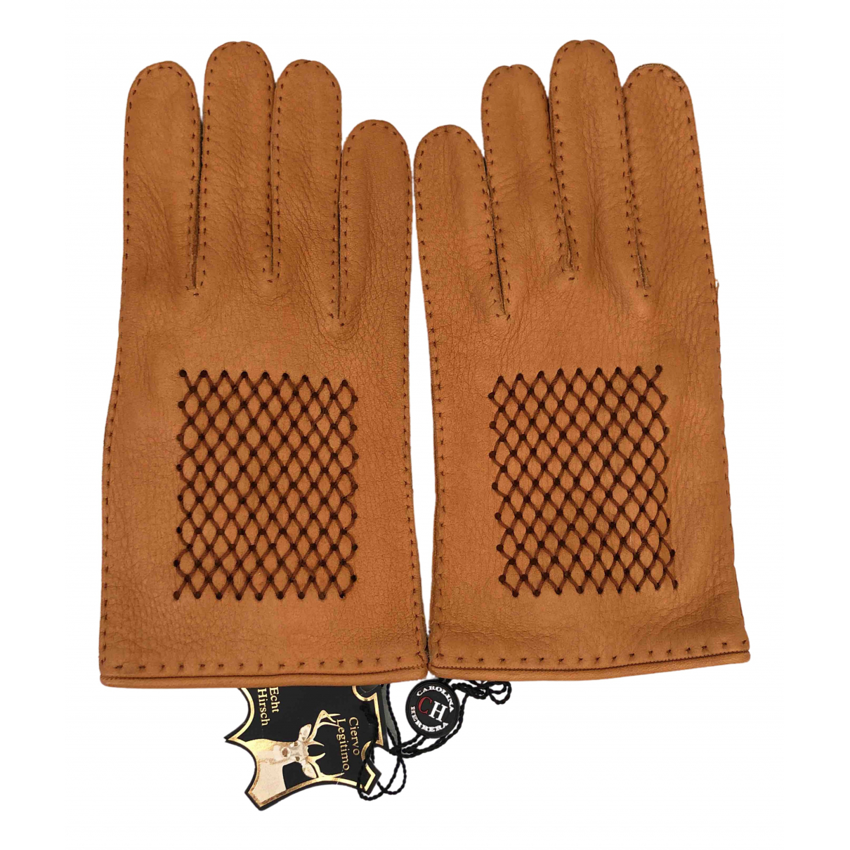 Carolina Herrera \N Handschuhe in  Braun Leder