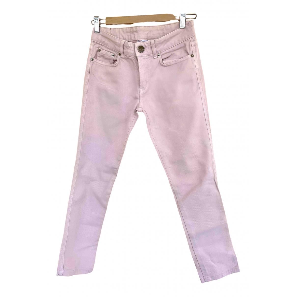Red Valentino Garavani \N Pink Denim - Jeans Trousers for Women 38 IT