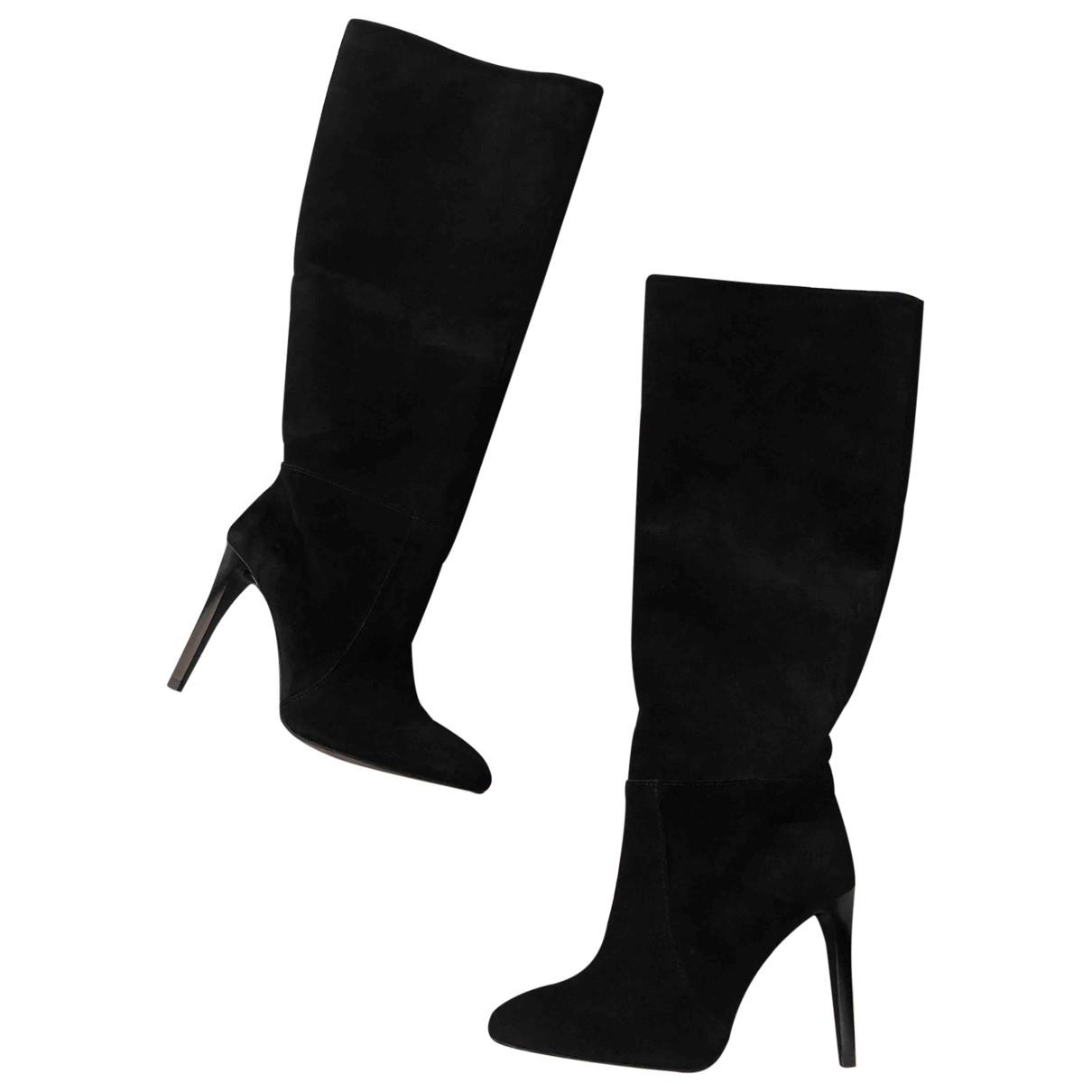 Mango \N Black Suede Boots for Women 36 EU
