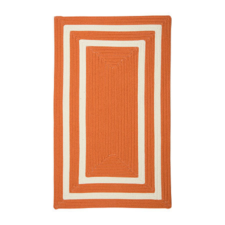 Colonial Mills Monica Double Border Braided Rectangular Reversible Indoor/Outdoor Rugs, One Size , Orange