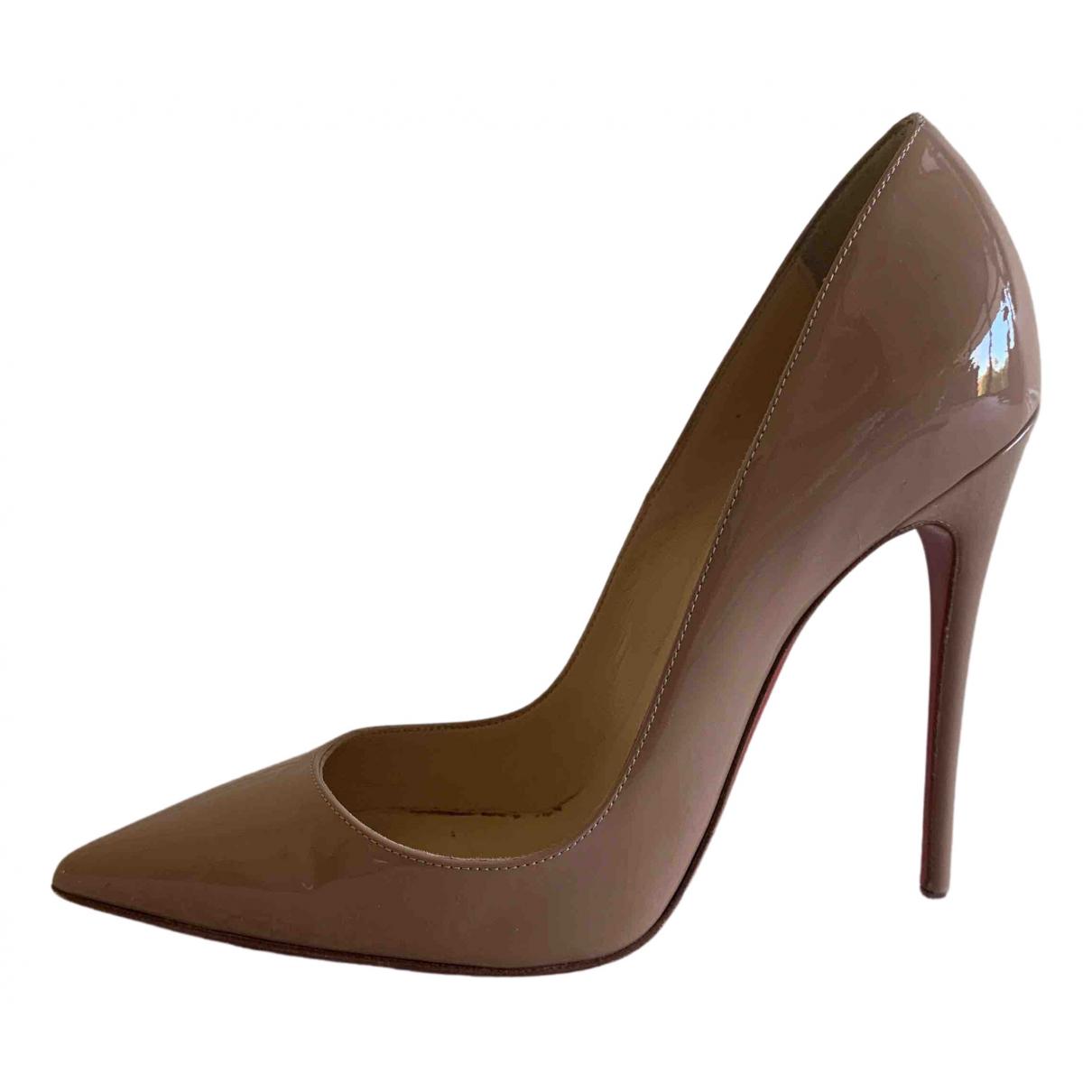 Christian Louboutin So Kate  Beige Patent leather Heels for Women 36 EU