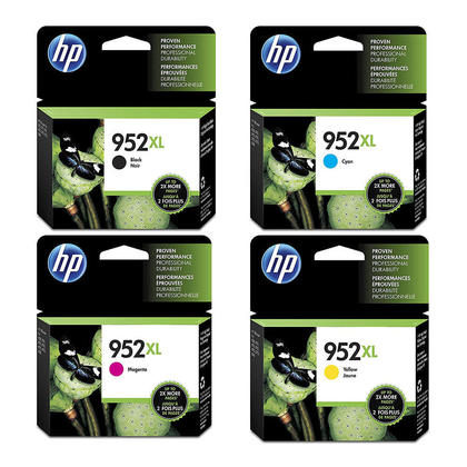 HP 952XL Original Ink Cartridge Combo High Yield BK/C/M/Y