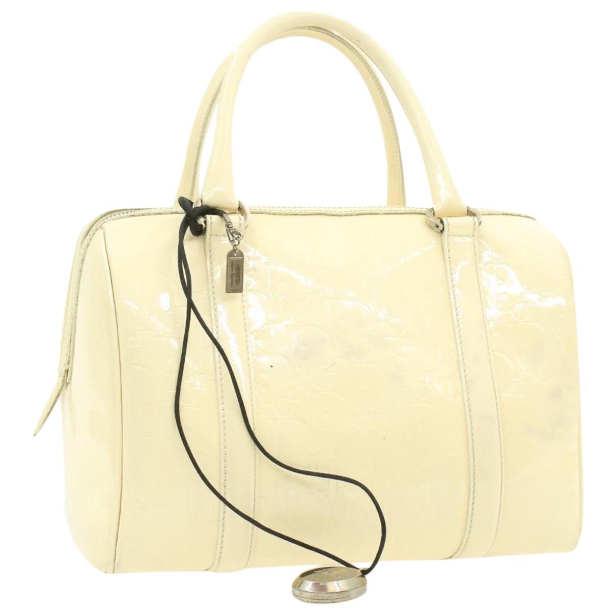 Christian Dior \N Handtasche in  Beige Lackleder