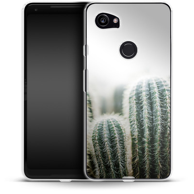 Google Pixel 2 XL Silikon Handyhuelle - Cactus 1 von Mareike Bohmer
