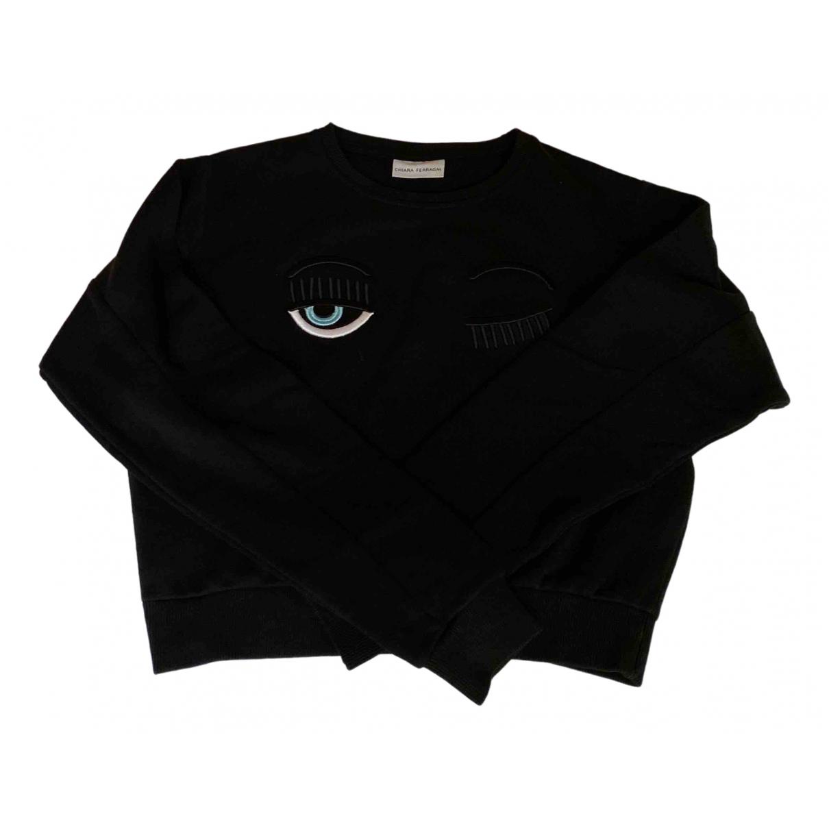 Chiara Ferragni \N Pullover in  Schwarz Baumwolle