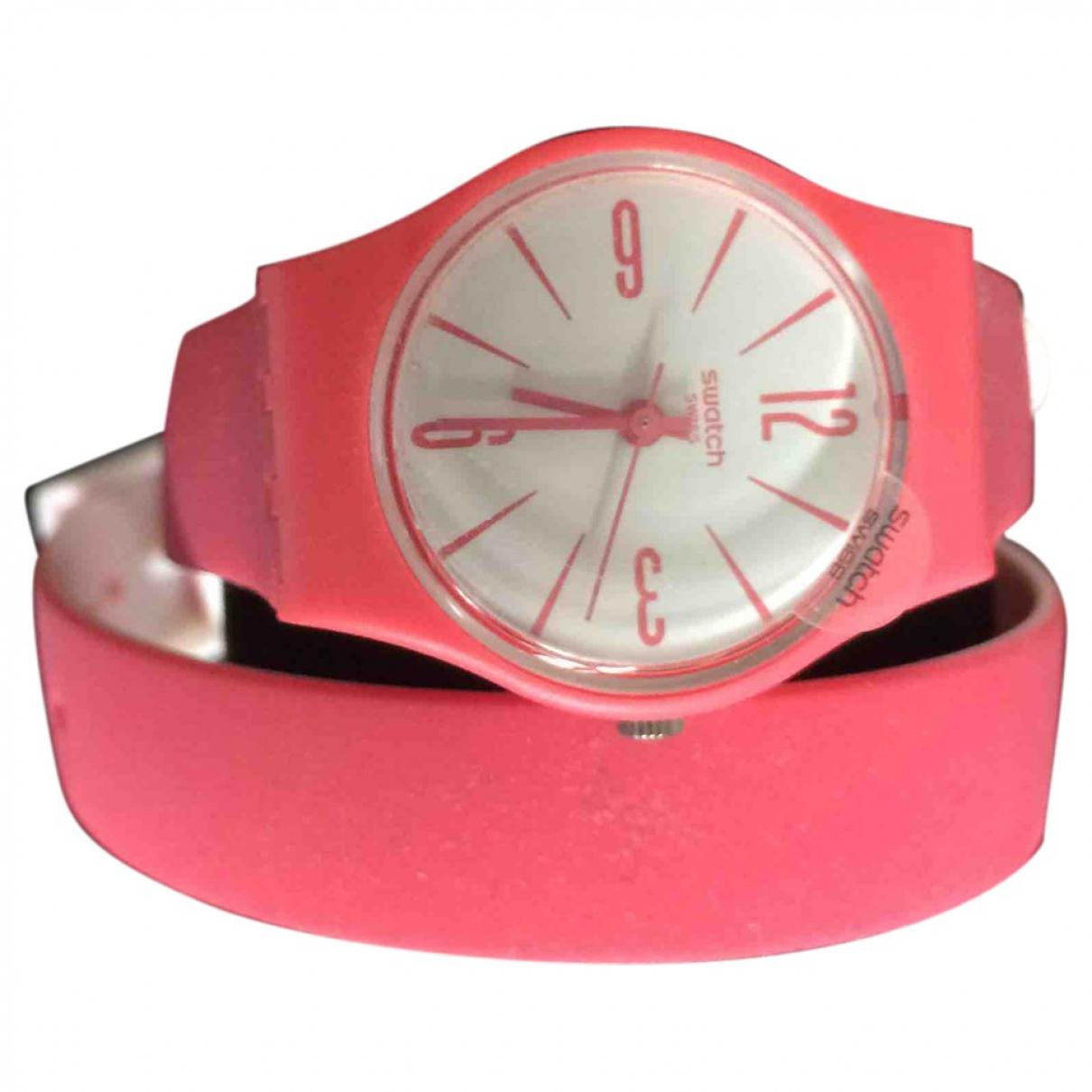 Swatch - Montre   pour femme en autre - rose