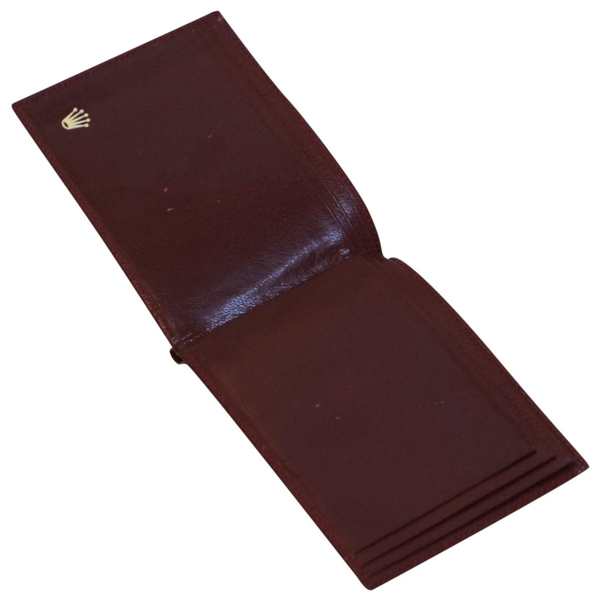 Rolex - Petite maroquinerie   pour homme en cuir - bordeaux