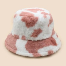 Two Tone Fluffy Bucket Hat