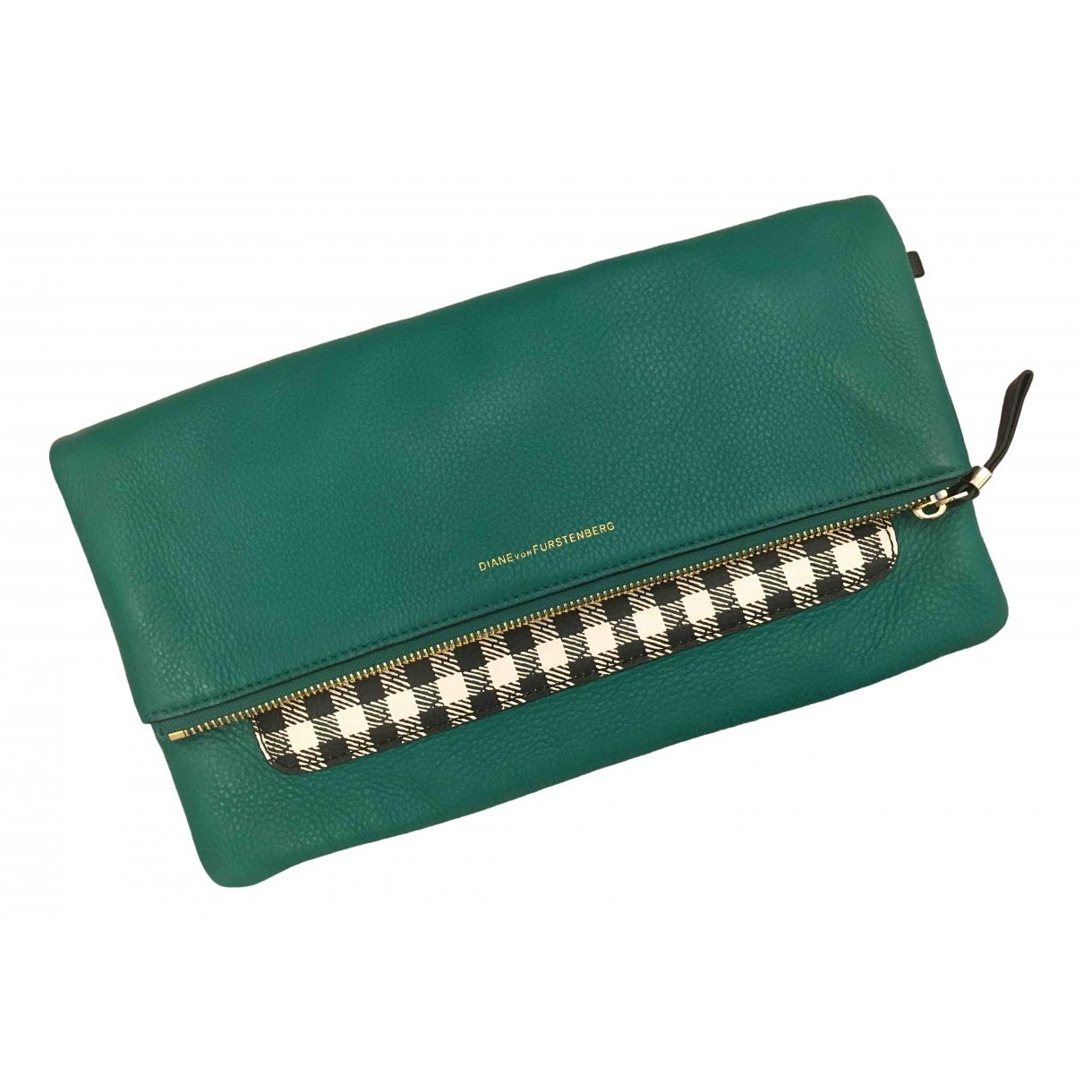 Diane Von Furstenberg - Pochette   pour femme en cuir - vert
