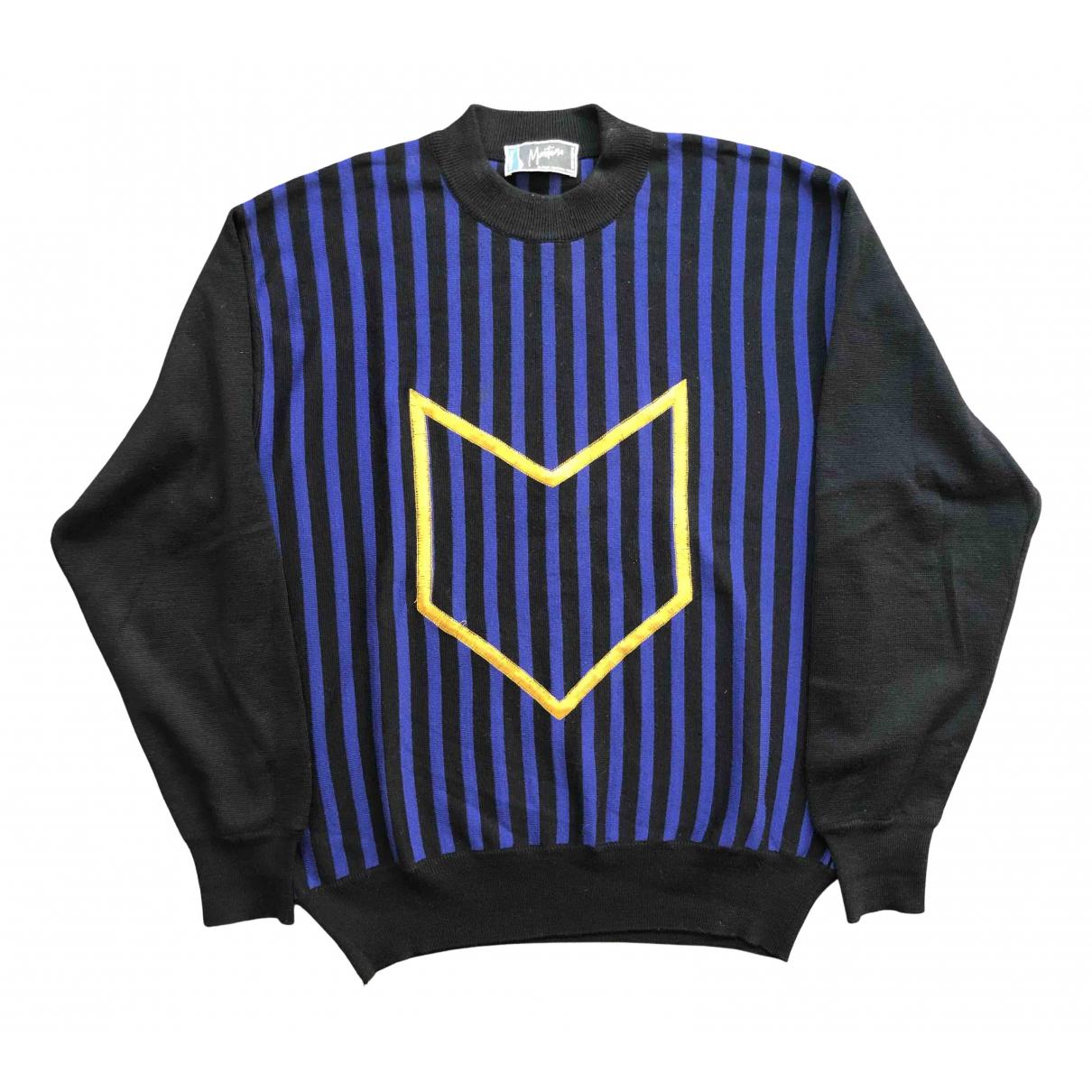 Claude Montana \N Pullover.Westen.Sweatshirts  in  Schwarz Wolle