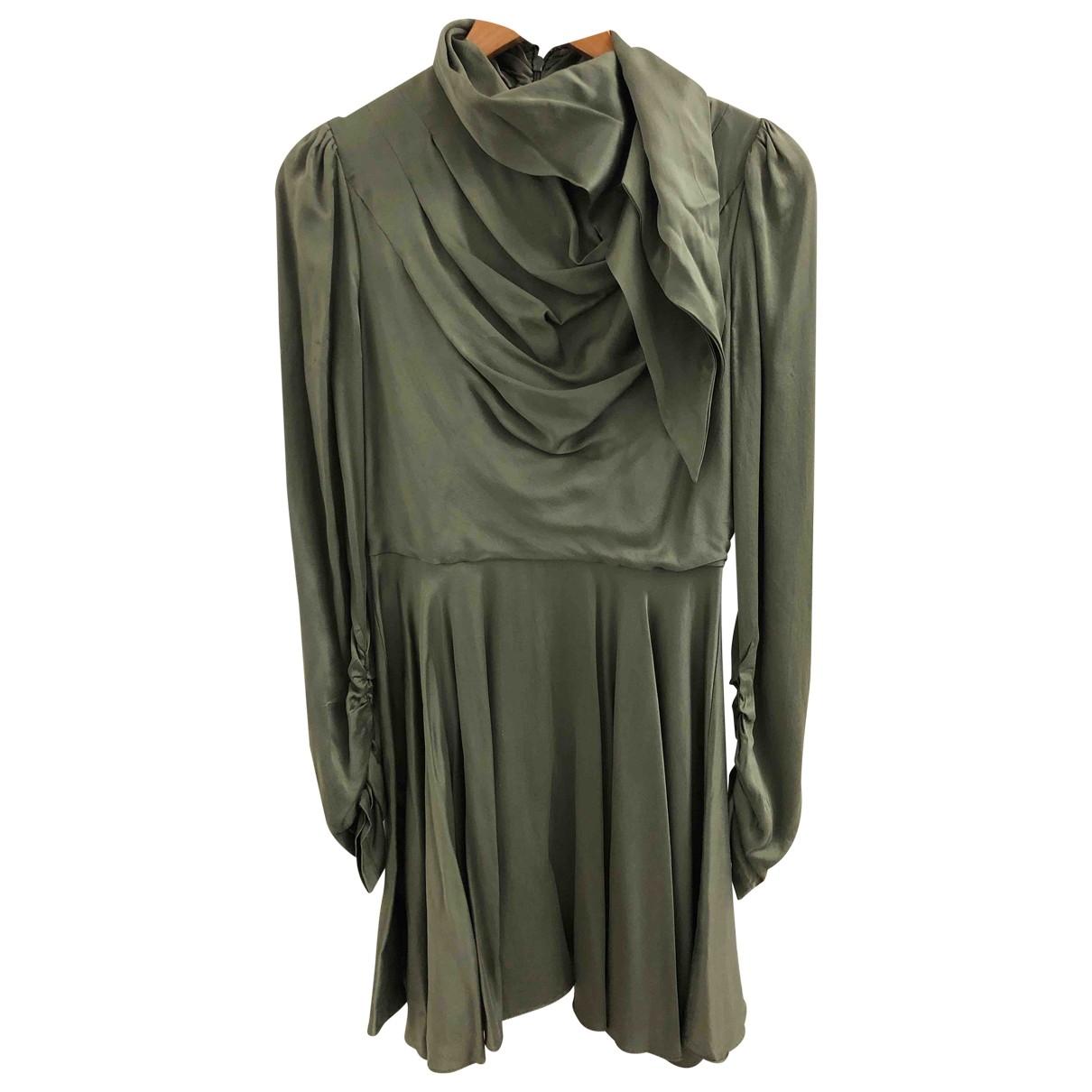 Zimmermann \N Kleid in  Gruen Seide