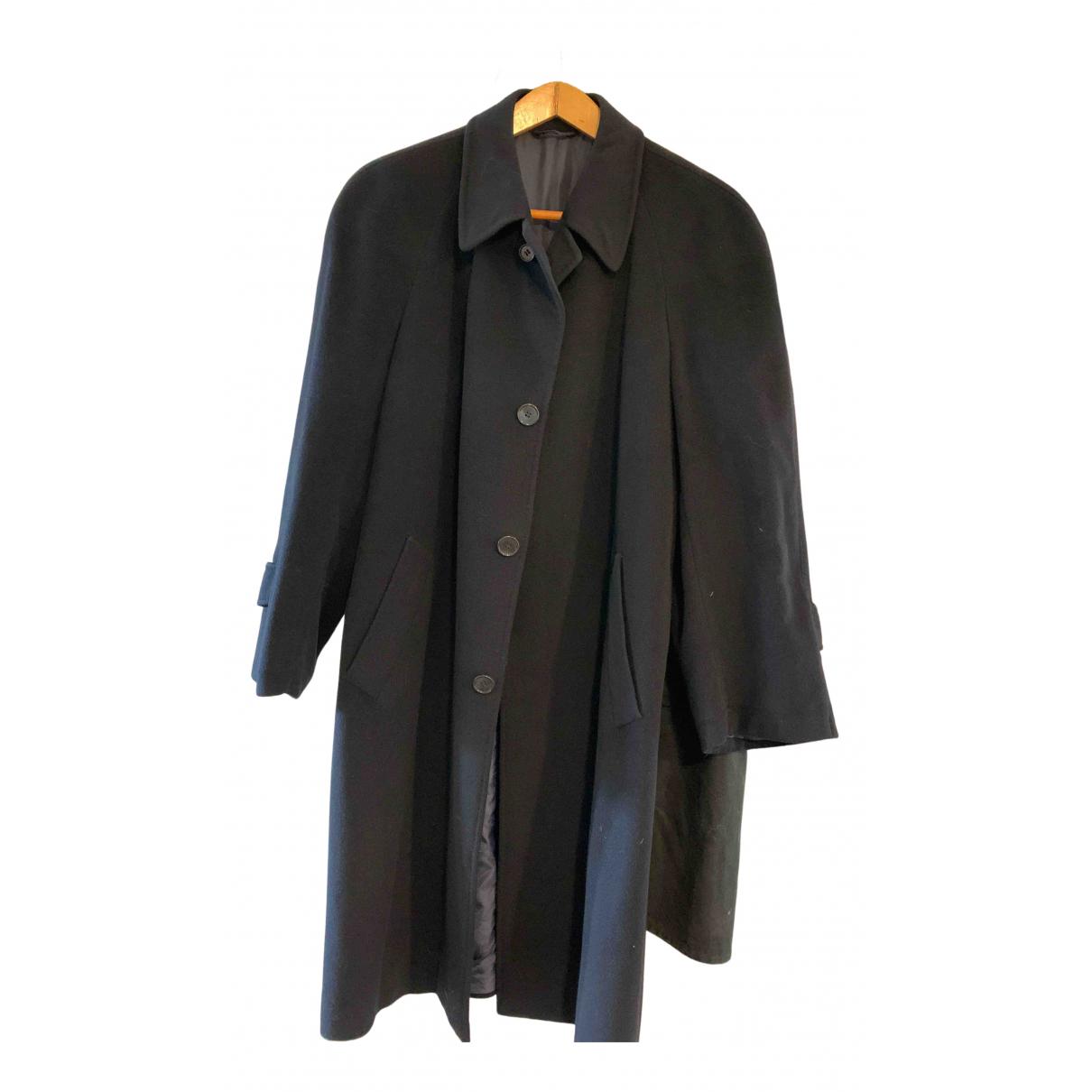 Francesco Smalto N Navy Cashmere coat  for Men 50 IT