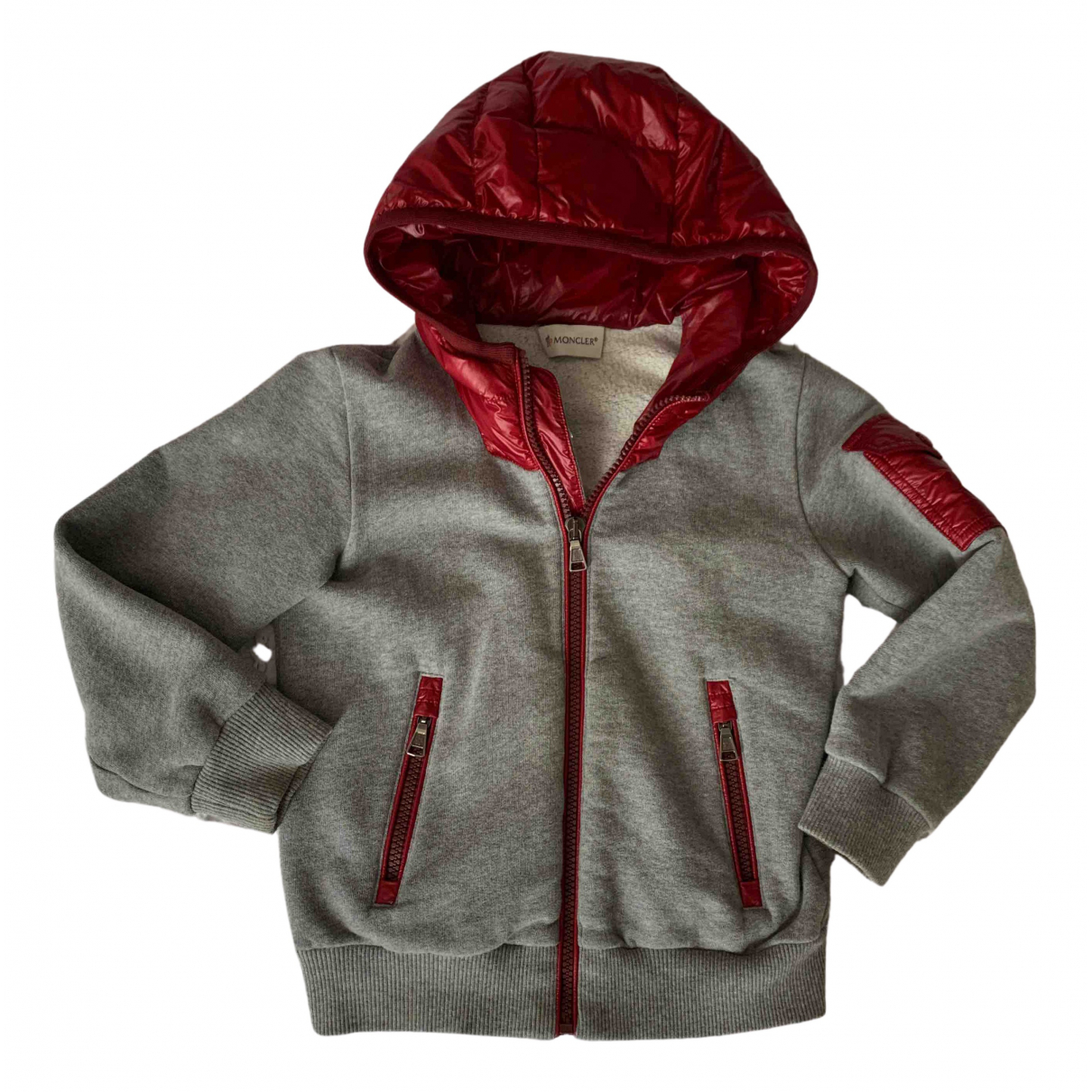 Moncler Hood Grey Cotton jacket & coat for Kids 4 years - up to 102cm FR