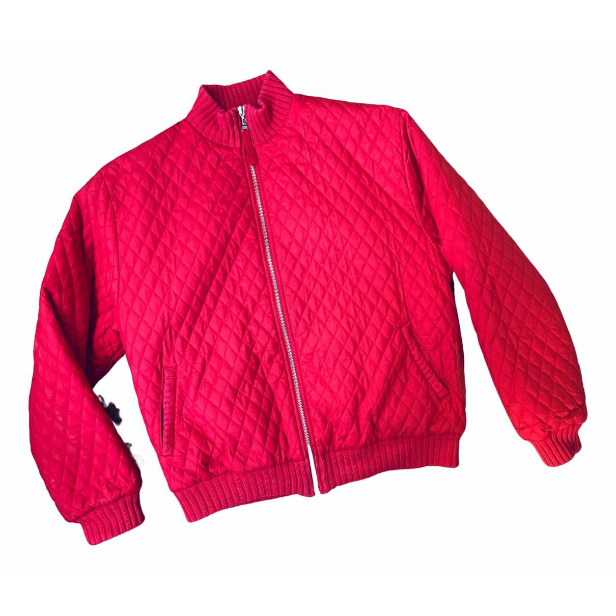 Prada \N Jacke in  Rot Polyester