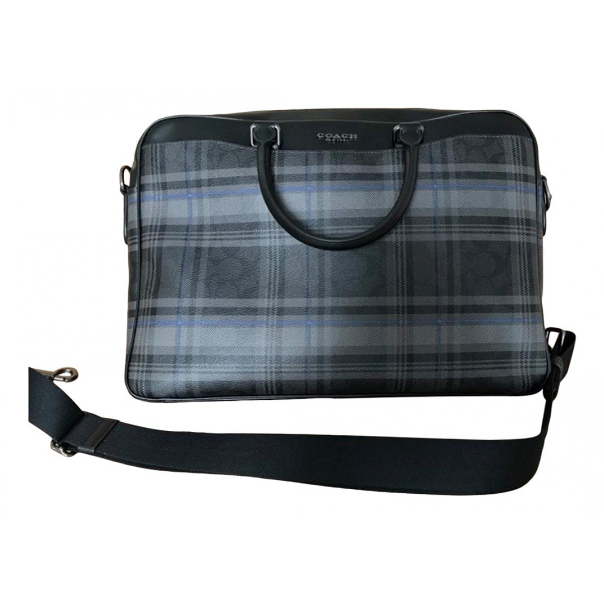 Coach \N Grey Leather bag for Men \N