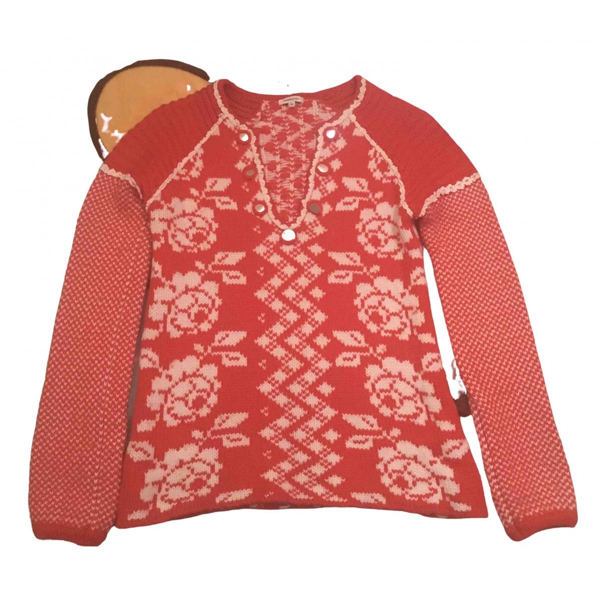 Manoush - Pull   pour femme en laine - rouge