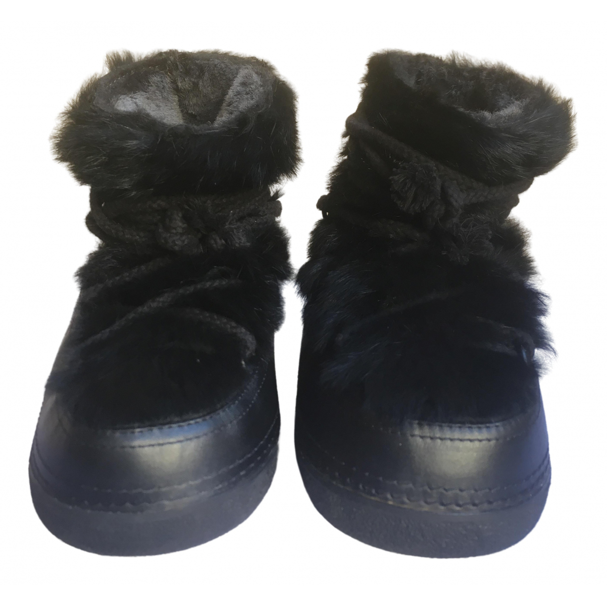 Ikkii \N Black Fur Boots for Women 37 EU