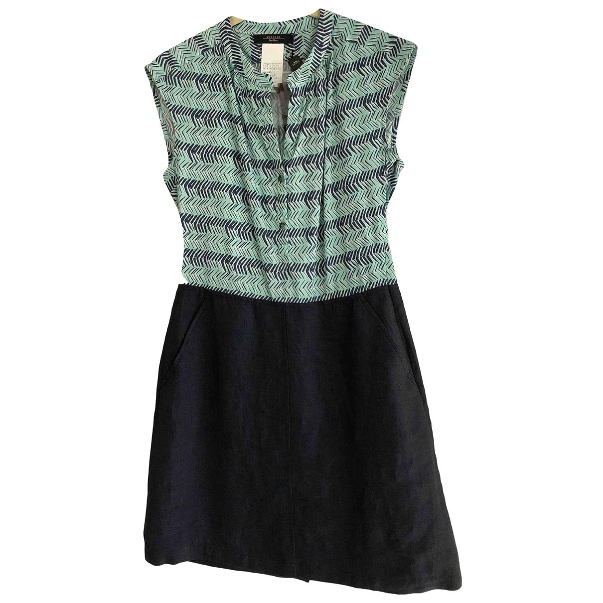 Max Mara Weekend N Navy Cotton dress for Women 8 UK