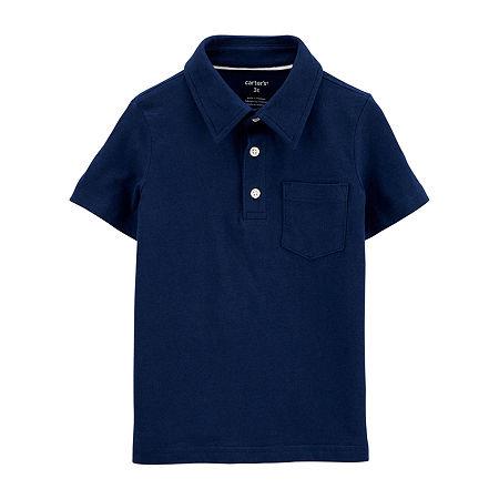 Carter's Toddler Boys Short Sleeve Polo Shirt, 2t , Multiple Colors