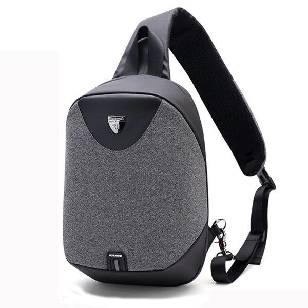 Men Polyester Antitheft Crossbody Bag Business Chest Bag Sling Bag