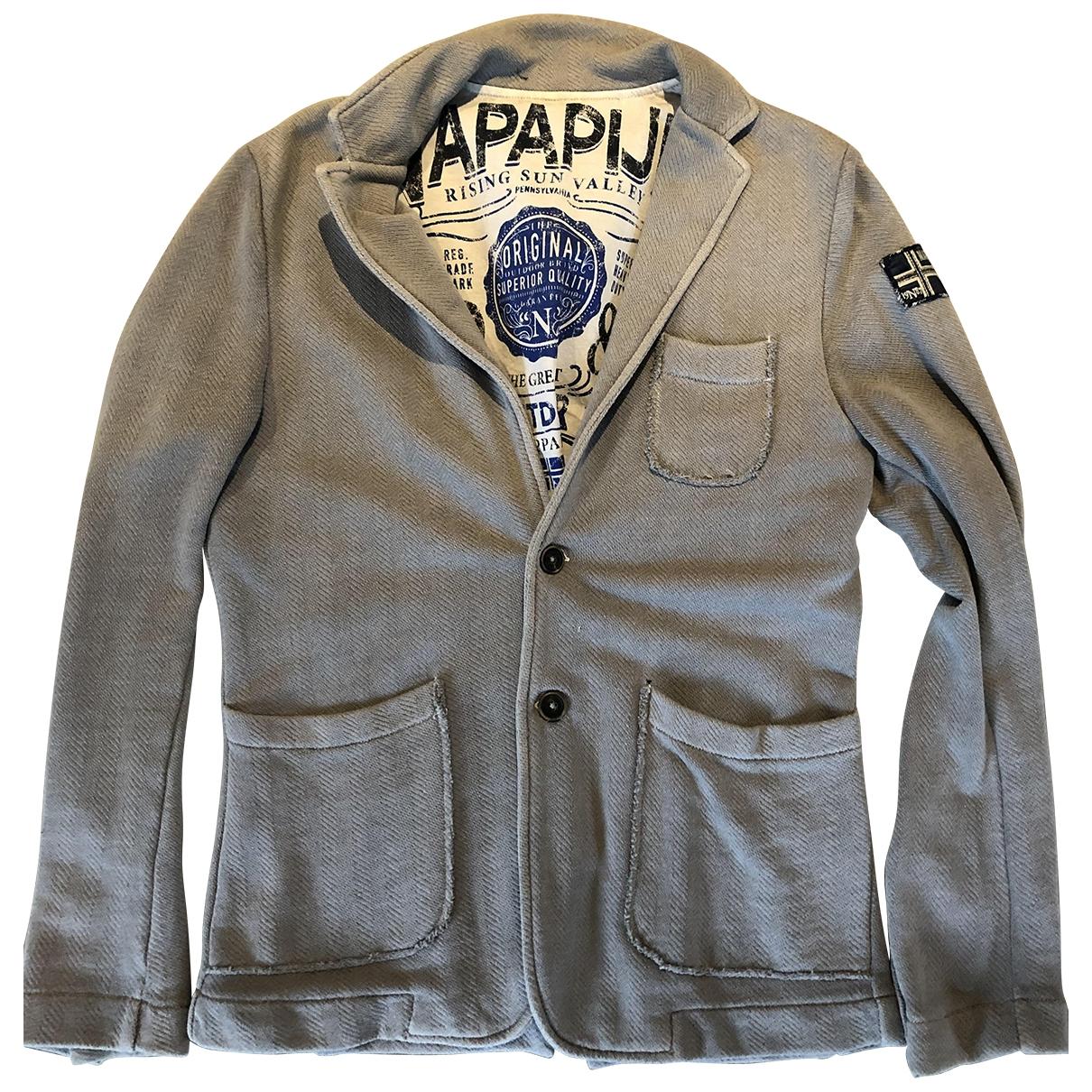 Napapijri - Vestes.Blousons   pour homme en coton - gris