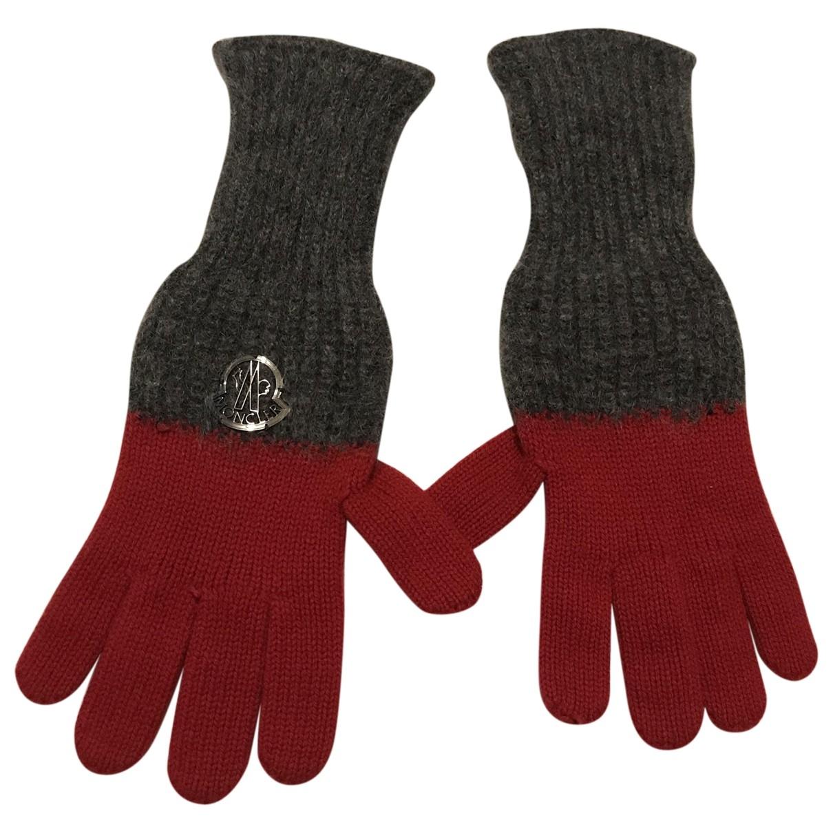 Moncler - Gants   pour femme en laine - rouge