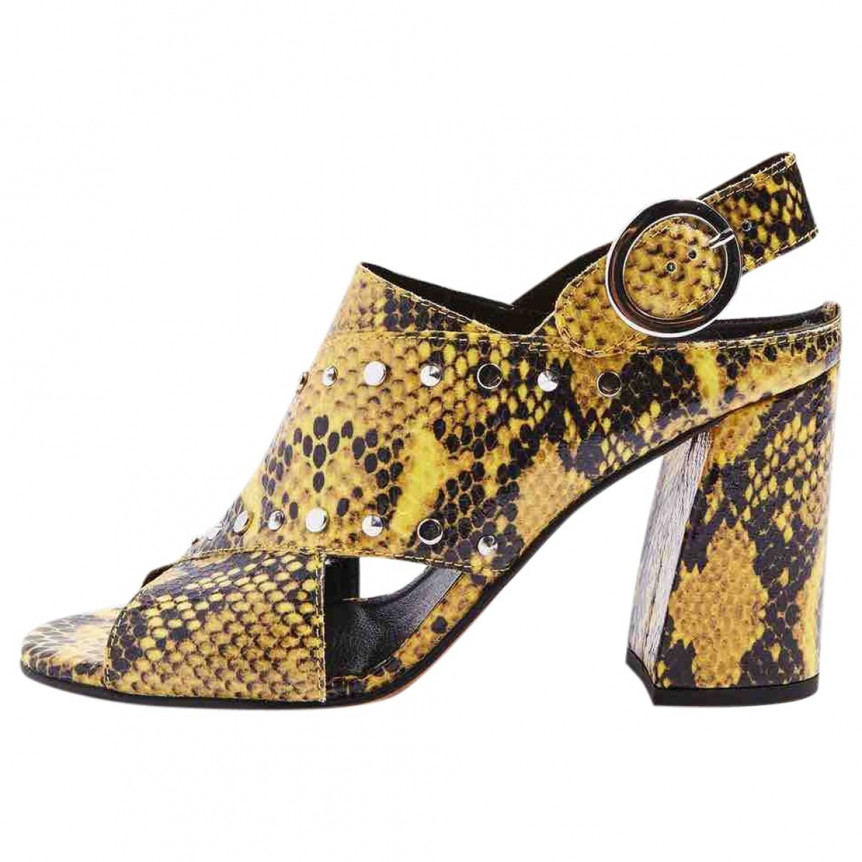 tophop \N Yellow Patent leather Sandals for Women 6 UK