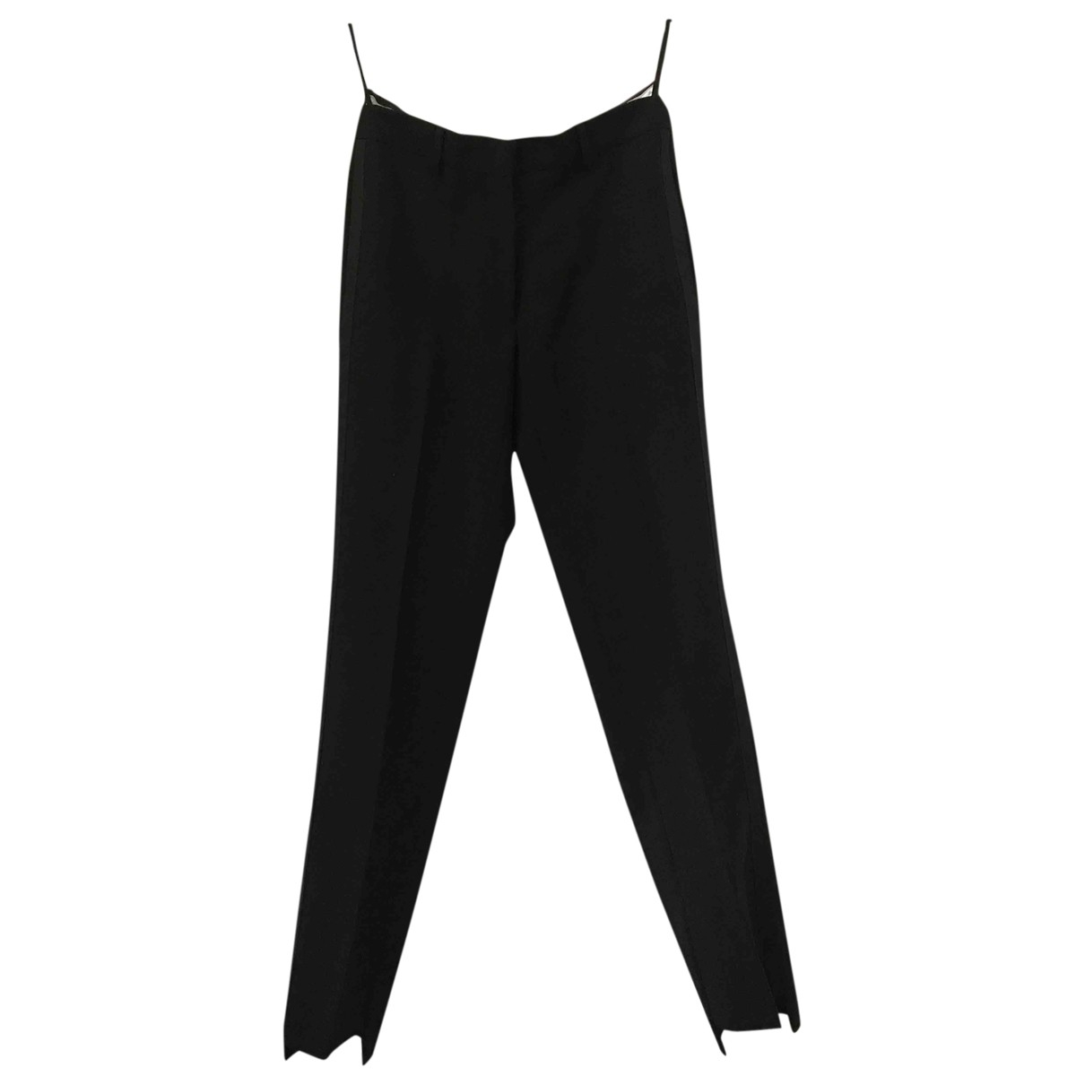 Maison Martin Margiela \N Black Wool Trousers for Women 42 IT