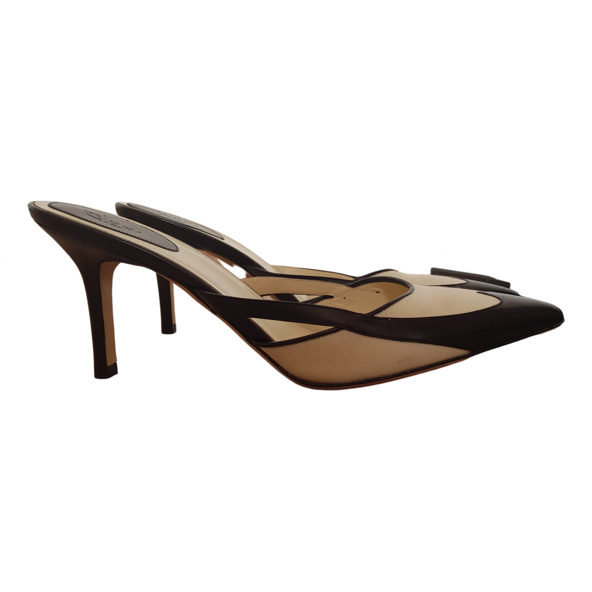 Gucci \N Black Leather Heels for Women 8.5 US