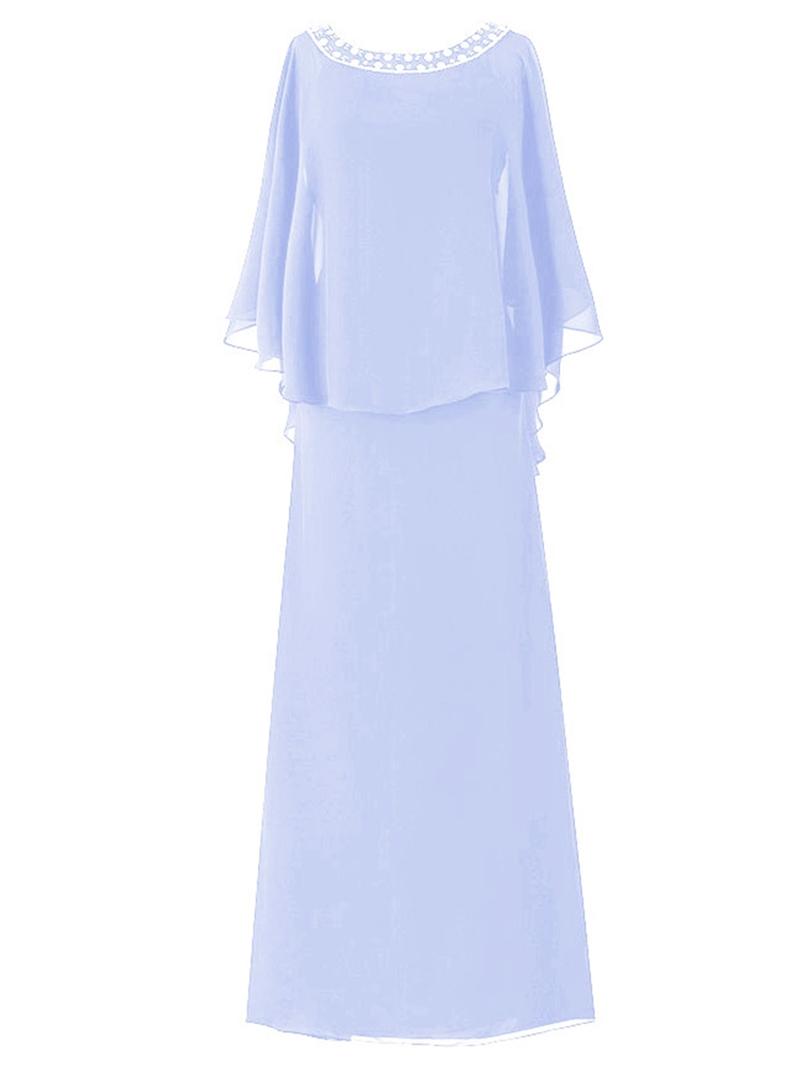 Ericdress Elegant Bateau A Line Chiffon Mother of the Bride Dress